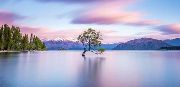 Wanaka possède un climat doux et un panorama à couper le souffle. C'est peut-être le plus beau paysage de Nouvelle-Zélande.