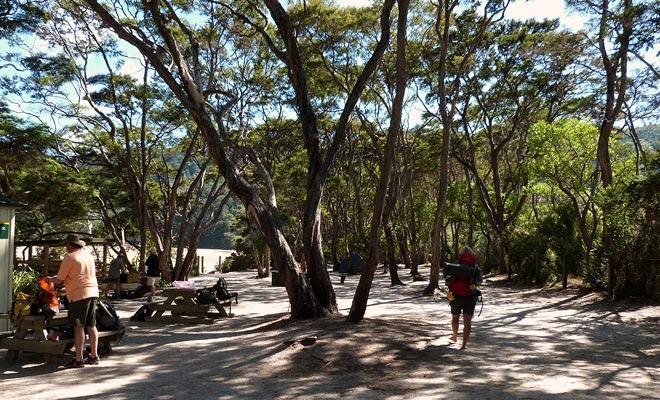 De campings in het park zijn niet verbonden met een weg en moeten te voet bereikbaar zijn. De mooiste locaties zijn geselecteerd.
