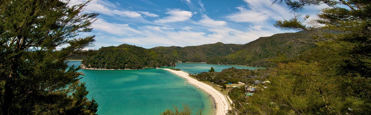 The Abel Tasman National Park and its lagoons can be explored by kayak.