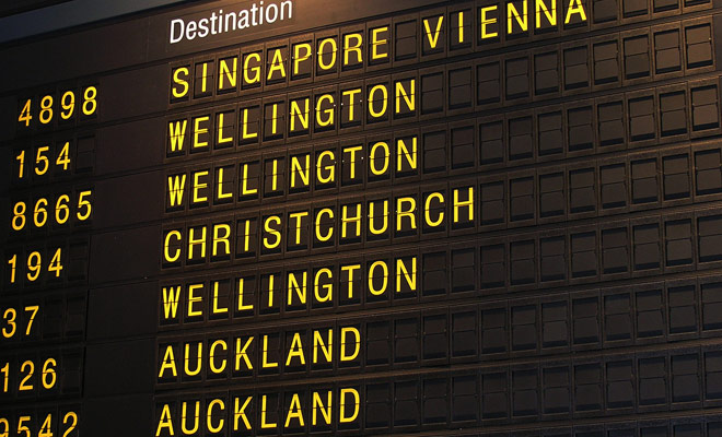 Nueva Zelanda tiene muchos aeropuertos, pero Auckland y Christchurch son virtualmente los únicos para recibir vuelos internacionales. Sin embargo, si haces una escala en Australia, podrás aterrizar en Queenstown, Rotorua o Dunedin.