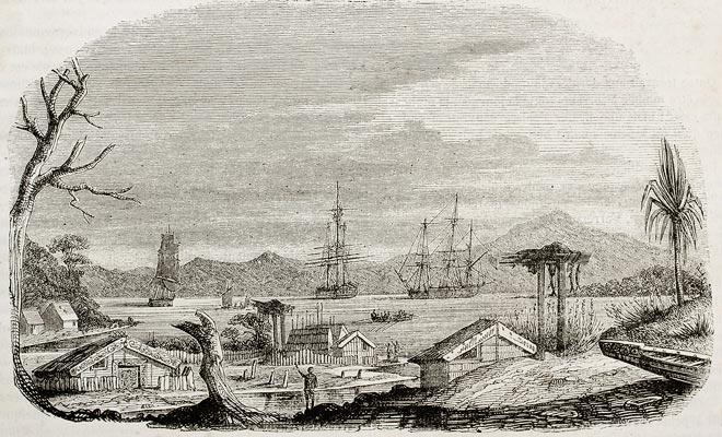 De 65 Franse kolonisten kwamen in 1840 in de Bay Of Islands. Een paar dagen navigatie zou voldoende zijn geweest om Akaroa voor de Britten te bereiken en Frankrijk te laten vestigen op het Zuidereiland.