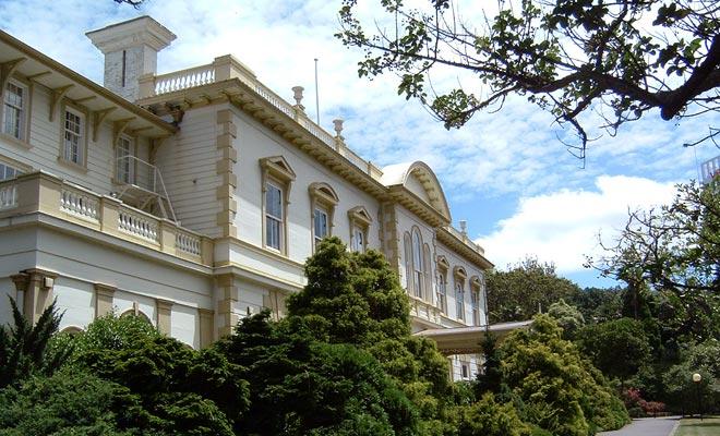 De campus ligt op slechts enkele minuten in de buurt van het grote Auckland Domain Park.