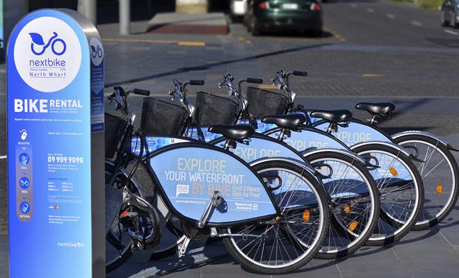 La metrópolis de Auckland dispone de servicio de alquiler de bicicletas. Una gran iniciativa, pero el número de estaciones es claramente insuficiente.
