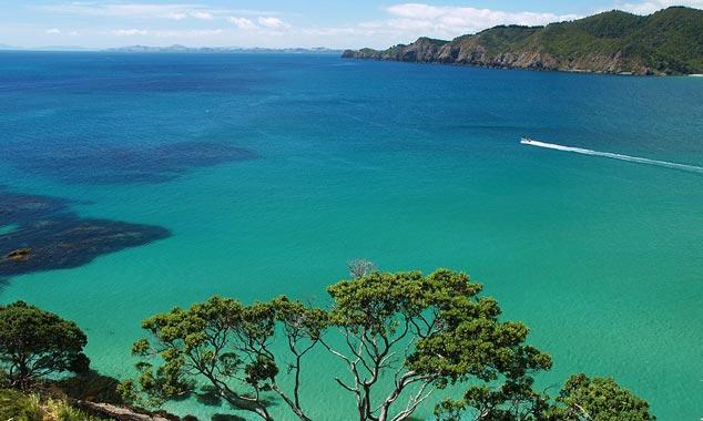 La costa de la Bahía de las Islas y su mar turquesa.