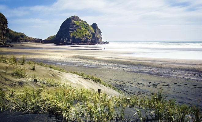 La mayoría de las playas de Nueva Zelanda son totalmente salvajes y desiertas durante decenas de kilómetros.