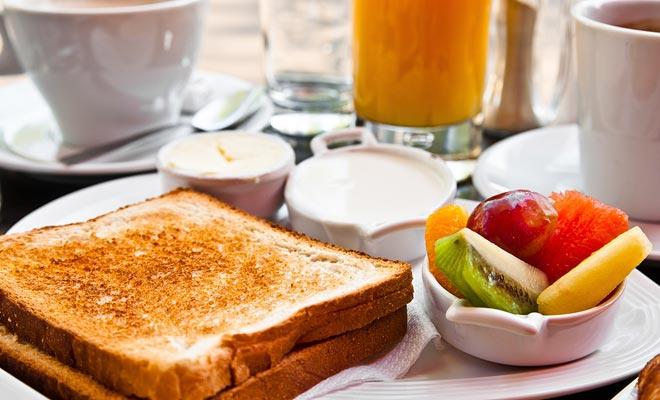 In de bedden en ontbijt kunt u meestal kiezen tussen een continentaal of engels ontbijt.