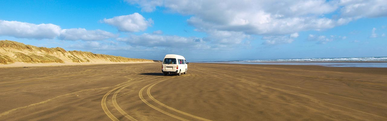 The Ninety Mile Beach is a beach where driving is permitted.