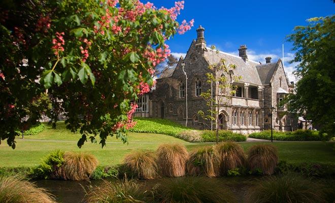 De campussen van grote steden zoals Auckland, Dunedin of Christchurch zijn Angelsaksisch geïnspireerd.