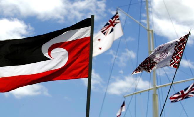 De Maori-vlag is ook het symbool van de Maori-claims.