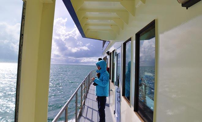 Het schip stijgt de fiord naar de Tasmanzee, waar het terugkeert naar het beginpunt.