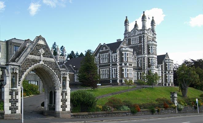 Las construcciones Dunedin están hechas de piedra caliza de la región de Otago.
