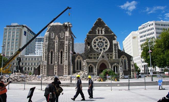 Elk jaar wordt de kans op een grote aardbeving geschat op ongeveer 1% in de omgeving van Christchurch.