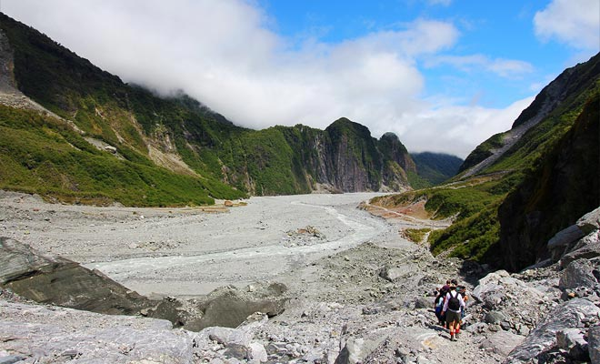 La excursión termina después de la moraine que une el valle hasta el estacionamiento.
