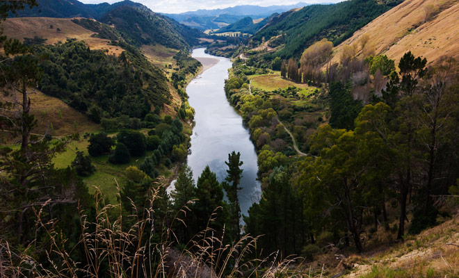 El Parque Nacional de Whanganui se visitará en kayak durante varios días. ¡Es imperativo monitorear el clima!