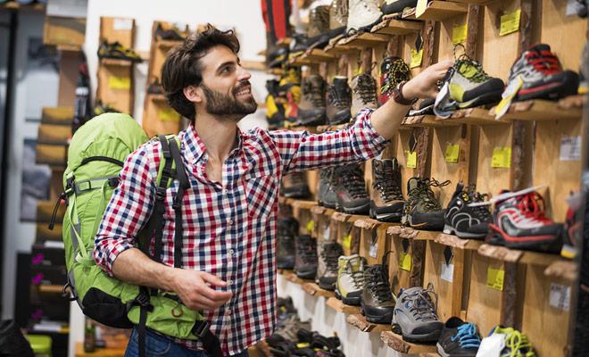 No cometa el error de comprar sus zapatos de senderismo justo antes de salir para Nueva Zelanda.