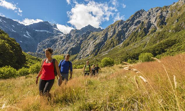 Trek entre amigos en Nueva Zelanda