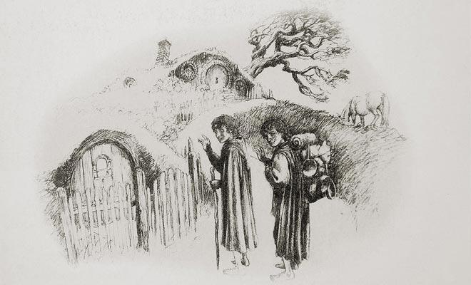 De aanpassing van de Heer van de Ringen voor de bioscoop is al lang onmogelijk beschouwd. Maar de schetsen die door Tolkien achtergelaten dienden als een gids tijdens de opname.