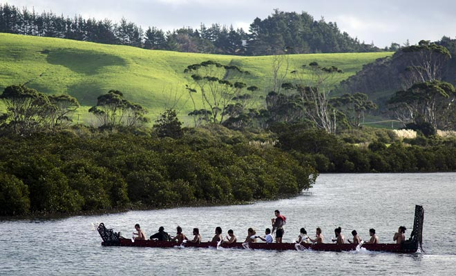 De Maori die Nieuw-Zeeland ontdekte, waren inheems aan Polynesië.