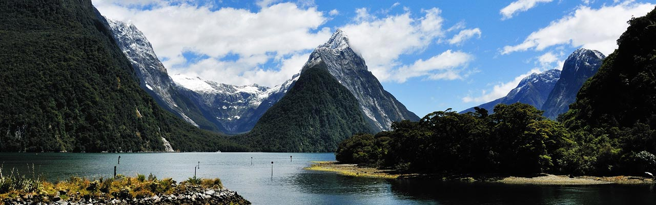 The Mitre Peak is the iconic summit of the Milford Sound.