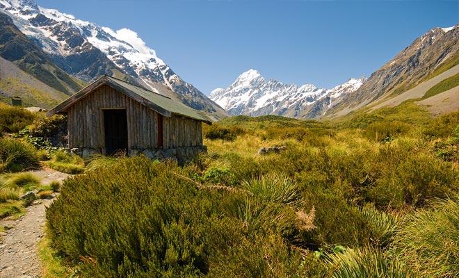 Las rutas de senderismo en Mt Cook son adecuados para todos los niveles. Pero desde un punto de vista general, son un poco más difíciles que en otras partes de Nueva Zelanda.