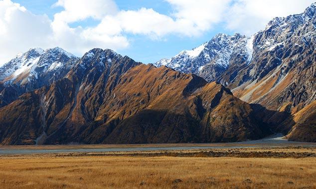Los acantilados escarpados son adecuados para avalanchas.