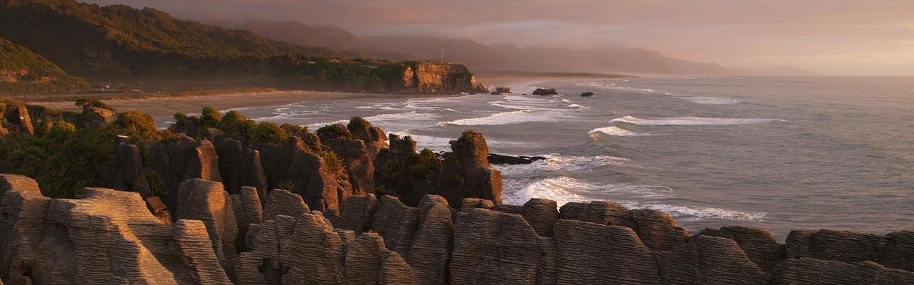 De Pancake Rocks of Punakaiki zijn een originele rockformatie.