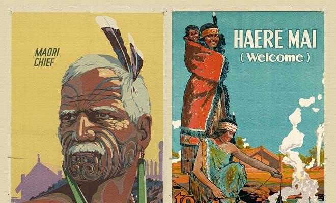 De Maori werden al lang geruchten, en populair beeldspraak zag ze als Indianen met vreemde gewoontes.