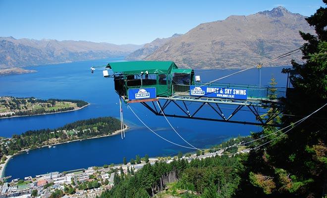 No es el punto de salto más alto en Queenstown, pero The Ledge le permite practicar el bungee jumping día y noche!