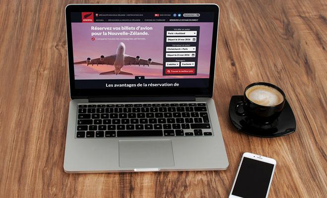 Kiwipal proporciona un formulario para buscar los precios de las principales aerolíneas en las fechas que le interesan.