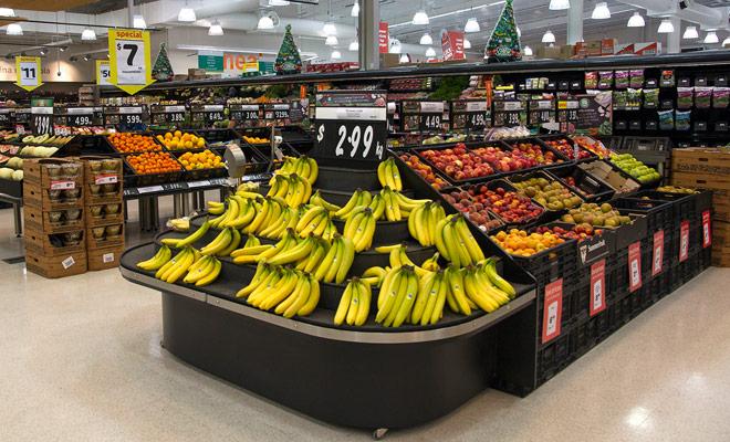 Encontramos la mayoría de las frutas que estamos acostumbrados en Europa, pero también frutas originales tales como el Kiwi de oro, que tiene un amarillo y la pulpa, con un gusto más dulce que la versión clásica verde.