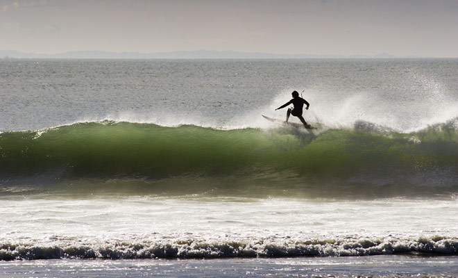 Alle voorwaarden zijn voldaan, met stranden die zich uitstrekken tot zover het oog kan zien en niet overvol zijn zoals in Australië.