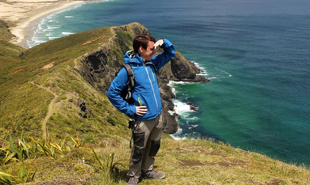 Gaël visitó la Isla Norte hasta Cabo Reinga.