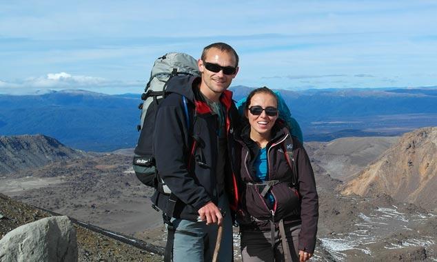 Marine y Julien, dos franceses viajando a Nueva Zelanda.