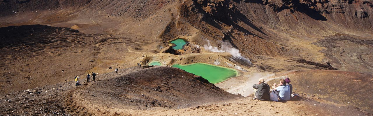 Tongariro Crossing is the most famous hike in New Zealand.