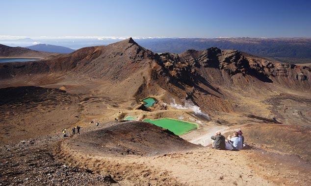 Tongariro Crossing es la caminata más famosa de Nueva Zelanda.