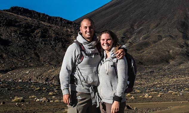Kevin y Élodie, viajeros y reporteros.