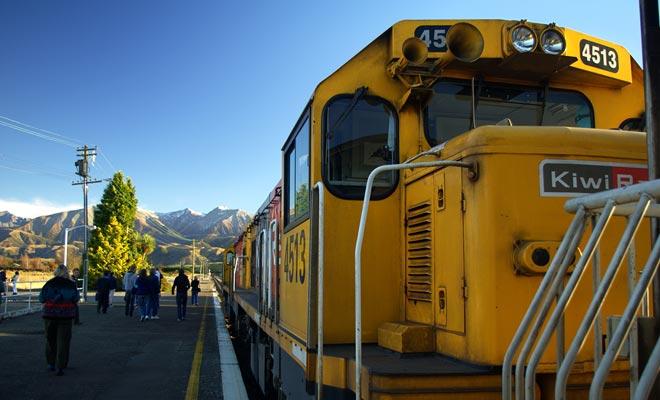 El tren de Nueva Zelanda es lento, lo que permite admirar el paisaje. Pero uno no debe tener prisa, porque un Auckland básico - Wellington dura casi 8 horas!
