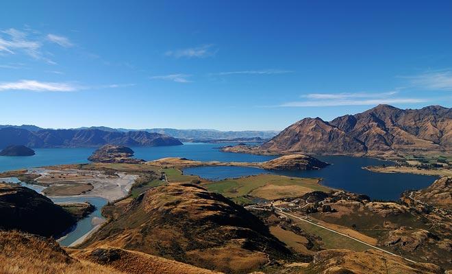 Veel scènes van de Lord of the Rings werden gefilmd in de centrale Otago en Wanaka.