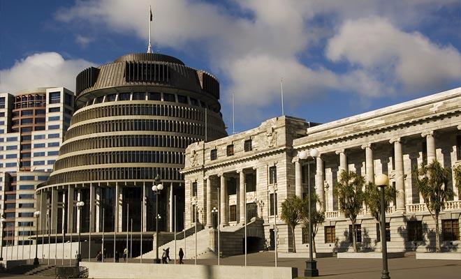 El parlamento de Nueva Zelanda es apodado colmena. Una construcción que no es muy popular entre la población local. Tenga en cuenta que puede asistir a una sesión del parlamento si lo desea: Nueva Zelanda es una democracia.