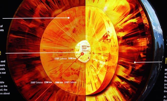 La sección Blood Earth Fire del Museo Te Papa está dedicada a los volcanes que dieron forma a Nueva Zelanda.