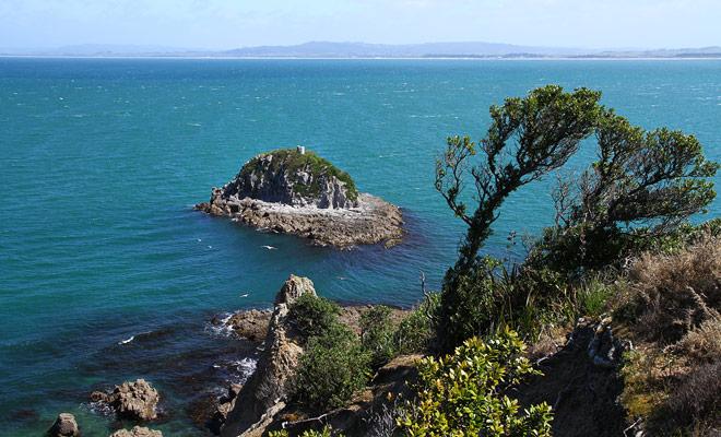 De kleine eilanden die u langs de Whangarei Heads Road kunt bewonderen, dragen leuke namen zoals Limestone Island, Rat Island of Rabbit Island.