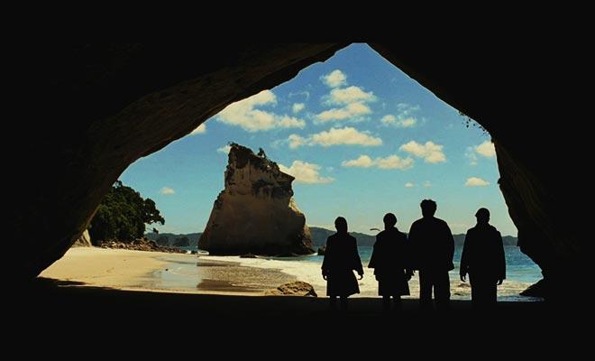 Es la escena de apertura del príncipe Caspian que fue filmada en Nueva Zelanda.