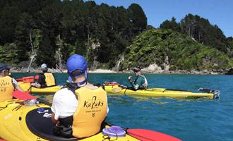 Neem een kajak les in het Abel Tasman Park.