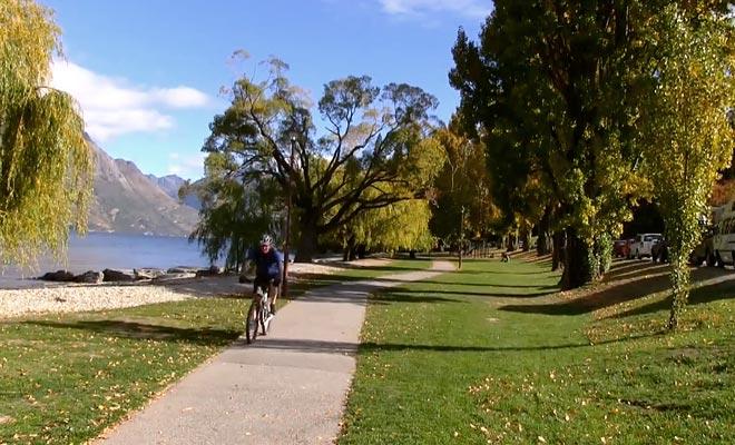 Usted puede alquilar bicicletas de montaña en Queenstown para explorar la zona.