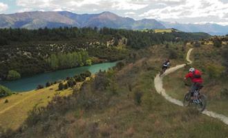 Los senderos de ciclismo están muy bien marcados y es imposible perderse.