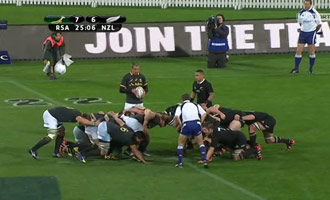Si nunca has visto un partido de rugby, aquí hay una antología entre los All Blacks y los Springboks.