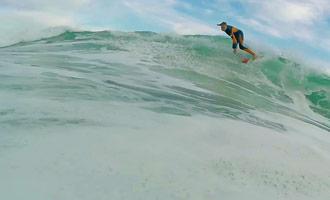 Herleef een surfingssessie alsof je daar was, dankzij een GoPro-camera.