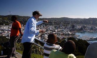 Mt Victoria ofrece un excelente panorama de la ciudad, pero es muy ventoso.