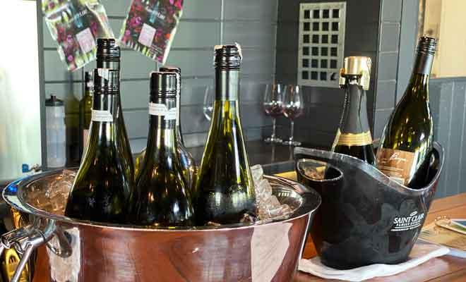 Dégustations de vins chez Saint Clair