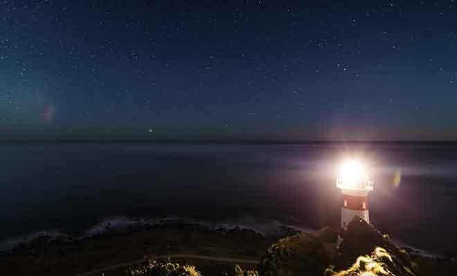 Un timelapse des étoiles réalisé au pied du phare